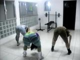 Lindas y muy bello baile de las brasileñas